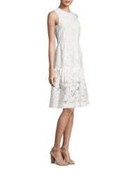Mother Of Pearl Ellie Ruffle Hem Dress White