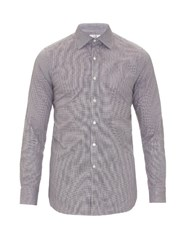 Dunhill Micro Hound's Tooth Cotton Shirt Brown Multi