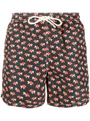 Mc2 Saint Barth Koi Swim Shorts Black