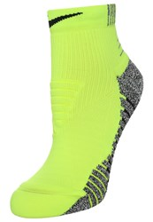 Nike Performance Lightweight Sports Socks Volt Black Neon Yellow