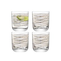 Lsa International Cocoon Tumbler Set Of 4 Gold Platinum