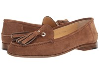 A. Testoni Tassel Loafer Tan Women's Slip On Shoes