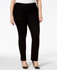 Lucky Brand Jeans Emma Straight Leg Black Wash Ripped Jeans