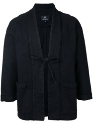Snow Peak Haori Cropped Sleeve Jacket Men Cotton Linen Flax Polyurethane L Black