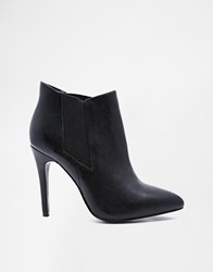 River Island Leather Pointed High Heel Shoe Boots Black