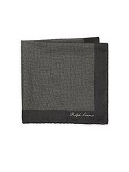 Ralph Lauren Dotted Cashmere Pocket Square Charcoal