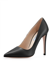 Prada Leather High Heel Pointy Pump