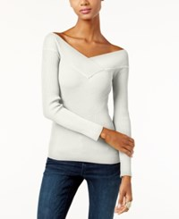 Inc International Concepts Off The Shoulder Reversible Sweater Only At Macy's Washed White