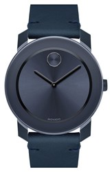 Men's Movado 'Bold' Leather Strap Watch 42Mm