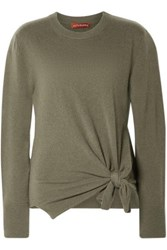 Altuzarra Nalini Knotted Cashmere Sweater Army Green