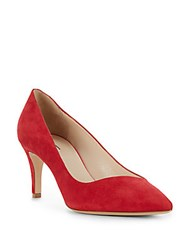 Giorgio Armani Two Toned Leather Pumps Red