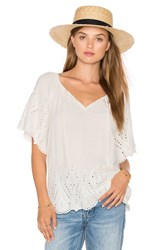 1.State Embroidered Blouse White