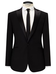John Lewis Kin By Fenn Jacquard Slim Fit Dress Suit Jacket Black