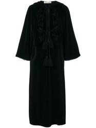 Veronique Branquinho Velvet Embroidered Dress Women Cotton Polyamide 42 Black