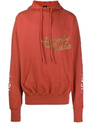 Liam Hodges Howdy Print Hoodie Red