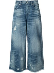 Prps Wide Leg Jeans Women Cotton 27 Blue