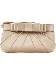 Love Moschino Bow Clutch Bag Metallic