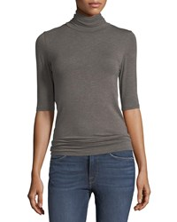 Majestic Soft Touch Half Sleeve Turtleneck Cafe