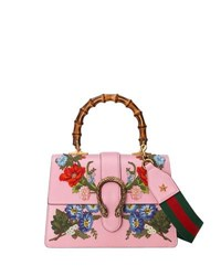 Gucci Dionysus Small Embroidered Floral Satchel Bag Pink