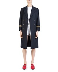 The Kooples Tailored Double Breasted Coat Navy