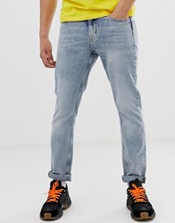 Cheap Monday Sonic Slim Jeans In Washed Blue
