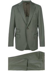 Doppiaa Formal Fitted Suit Green