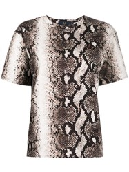 Fred Perry Snakeskin Print T Shirt Neutrals