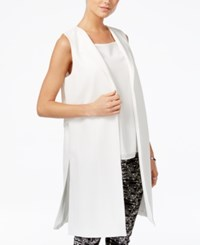 Bar Iii Long Vest Only At Macy's Washed White