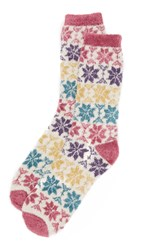 Free People Orian Snowflake Slipper Socks Multi