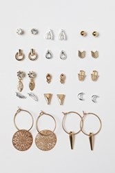 Handm H M 14 Pairs Earrings Gold