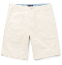 Alex Mill Cotton And Linen Blend Canvas Shorts Beige