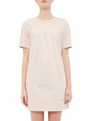 Ted Baker Colour By Numbers Charr A Line Button Detail Dress Nude Pink