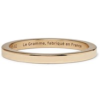 Le Gramme 5 Polished 18 Karat Gold Ring Gold