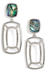 Judith Jack Women's Abalone Double Drop Earrings