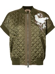 N 21 No21 Quilted Bomber Jacket Brown