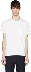 Marc By Marc Jacobs White Solid Slub T Shirt