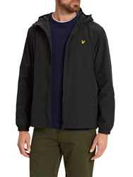 Lyle And Scott Zip Through Hooded Jacket True Black