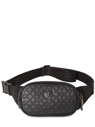 Versace Logo Leather Belt Bag Black