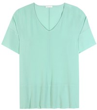 Robert Friedman Elais Silk Top Green