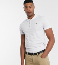 Threadbare Tall Basic Muscle Fit Polo Shirt In White