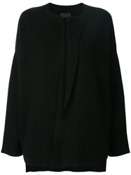 Oyuna Open Cardigan Black