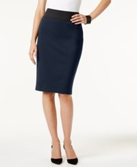 Inc International Concepts Petite Pull On Pencil Skirt Only At Macy's Deep Twilight