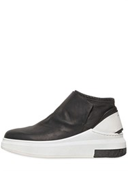 Cinzia Araia Stretch Nappa Leather Mid Top Sneakers