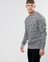 Bellfield Printed Sweatshirt Grey