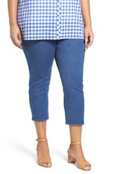 Foxcroft Plus Size Women's Nina Slimming Pull On Capri Jeans