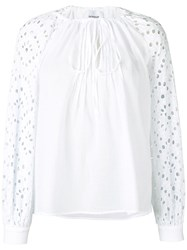 Dondup Embroidered Sleeves Blouse White
