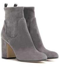 Gianvito Rossi Suede Ankle Boots Grey
