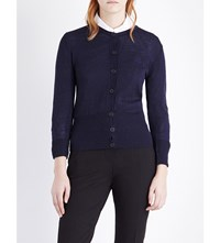 Anglomania Classic Wool Cardigan Navy