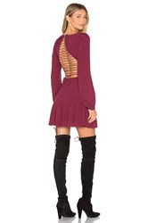 For Love And Lemons X Revolve Lace Up Dress Burgundy