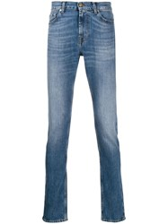 7 For All Mankind Ronnie Skinny Jeans Blue